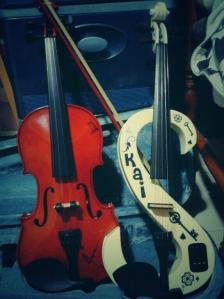 Biola kami. This is what happen when you ask a girl to decorate your brother's violin.